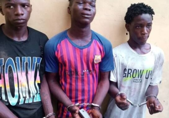 Photo Of Three 19-Year-Old Boys Who Were Busted For Armed Robbery In Lagos