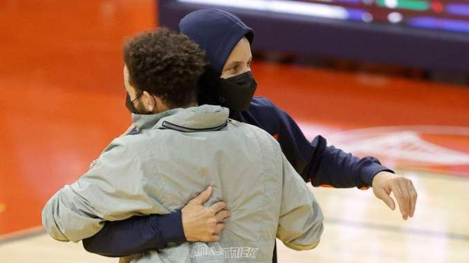 Stephen Curry Details Fierce Trash Talking with Sixers' Brother