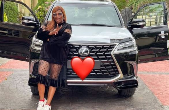 Too Much Money! Actress, Funke Akindele Acquires Brand New Lexus SUV (Photo/Video)
