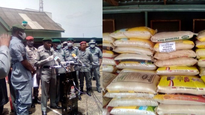 Customs intercept 3,311 bags of foreign rice, 487 litres of PMS in Oyo/ Osun states