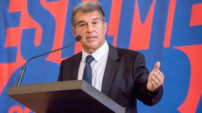 LaLiga: Barcelona president, Laporta reveals how they can win title this season