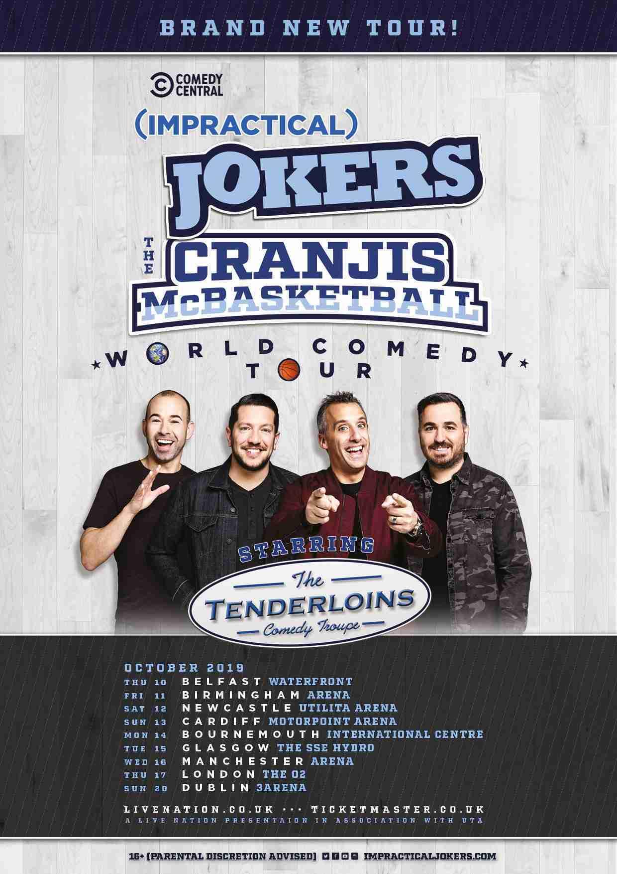 Impractical Jokers Tour 2020.The Arts Shelf Impractical Jokers Announce The Cranjis