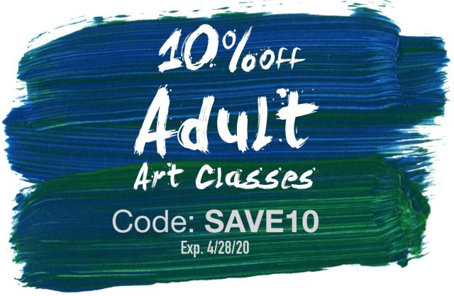 adult art class discount