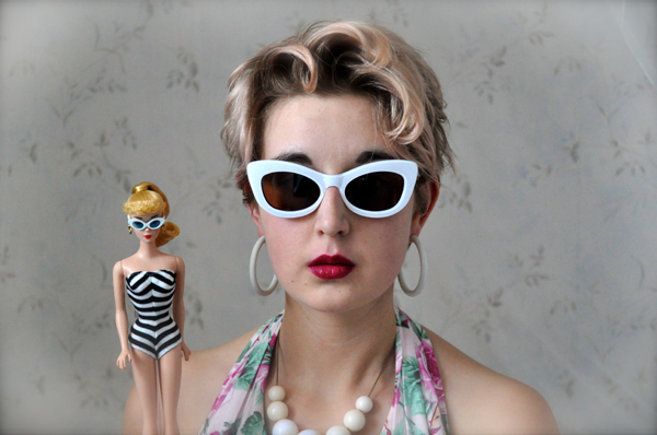 the artyologist- image of barbie and me vintage barbie photoshoot