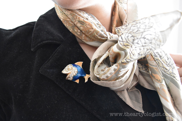 the artyologist image of vintage fish brooch