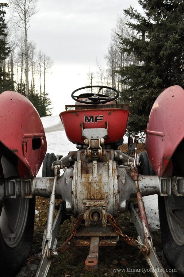 the artyologist- image of vintage massey ferguson tractor
