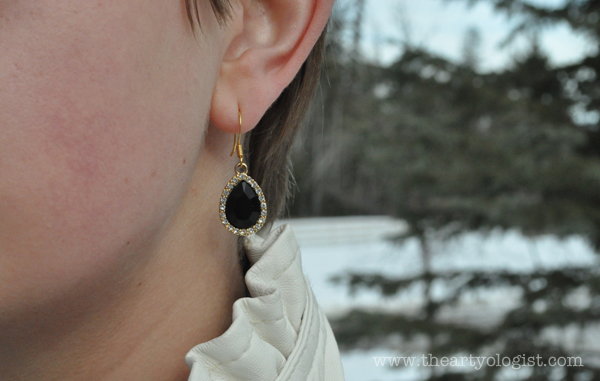 the artyologist- image of sparkly black jet earring