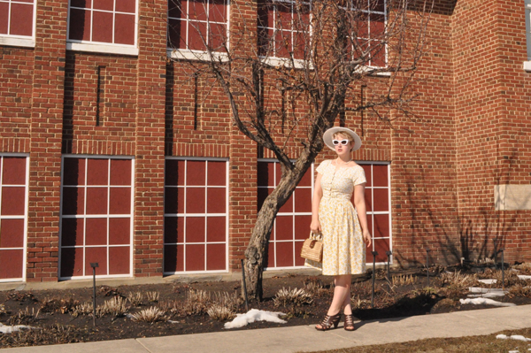 the artyologist image of vogue 1044 in front of school