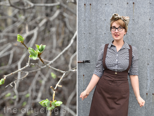 the artyologist image of suspender skirt inspired by vintage sears catalogue