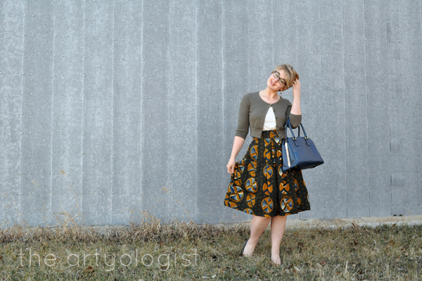 the artyologist- image of vintage styled wax print skirt