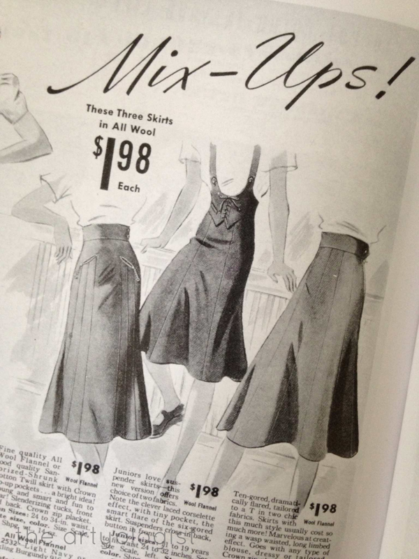 the artyologist image 1939 sears catalogue skirt