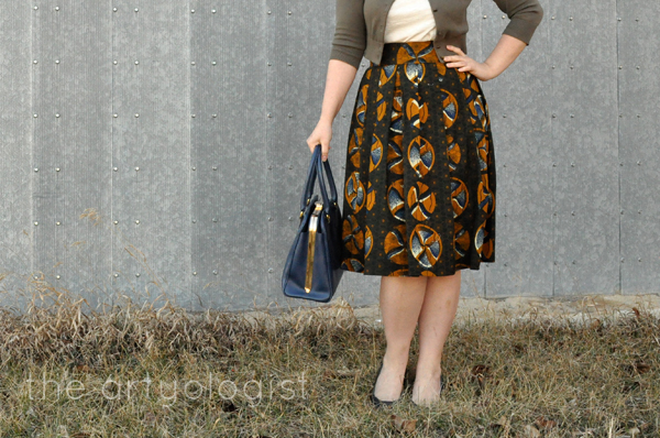 the artyologist- image of african style wax print fabric skirt