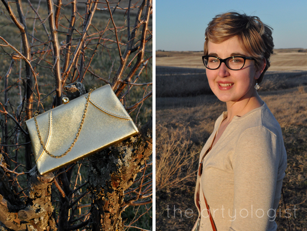 the artyologist vintage gold evening bag
