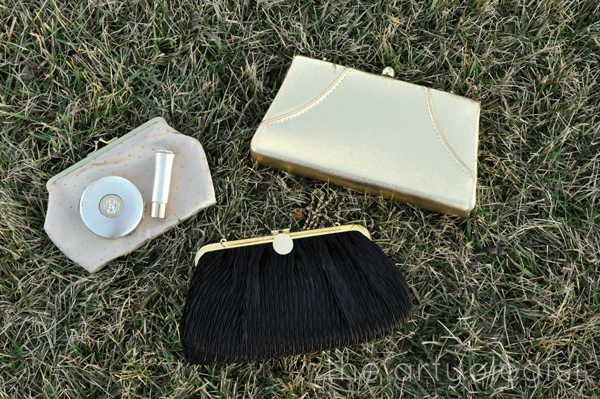 the artyologist image of vintage clutches and avon makeup set