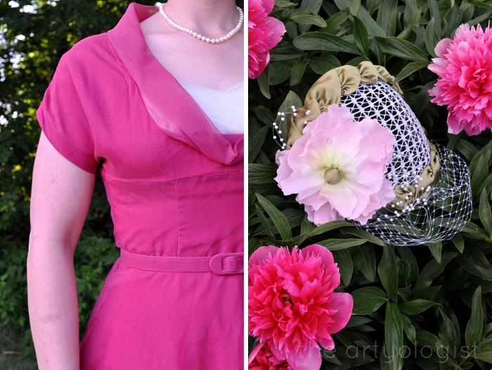 vintage hat and dress closeup the artyologist