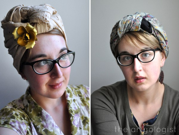 the artyologist image of vintage turbans style