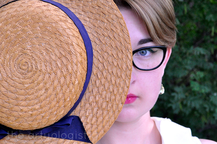 vintage straw boater the artyologist