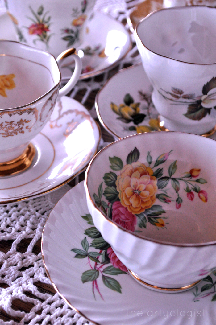 teacups for ladies tea party the artyologist