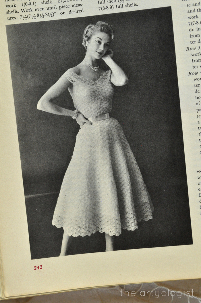 A Fashion Moment With McCall's Treasury of Needlecraft: crocheted dresses The Artyologist