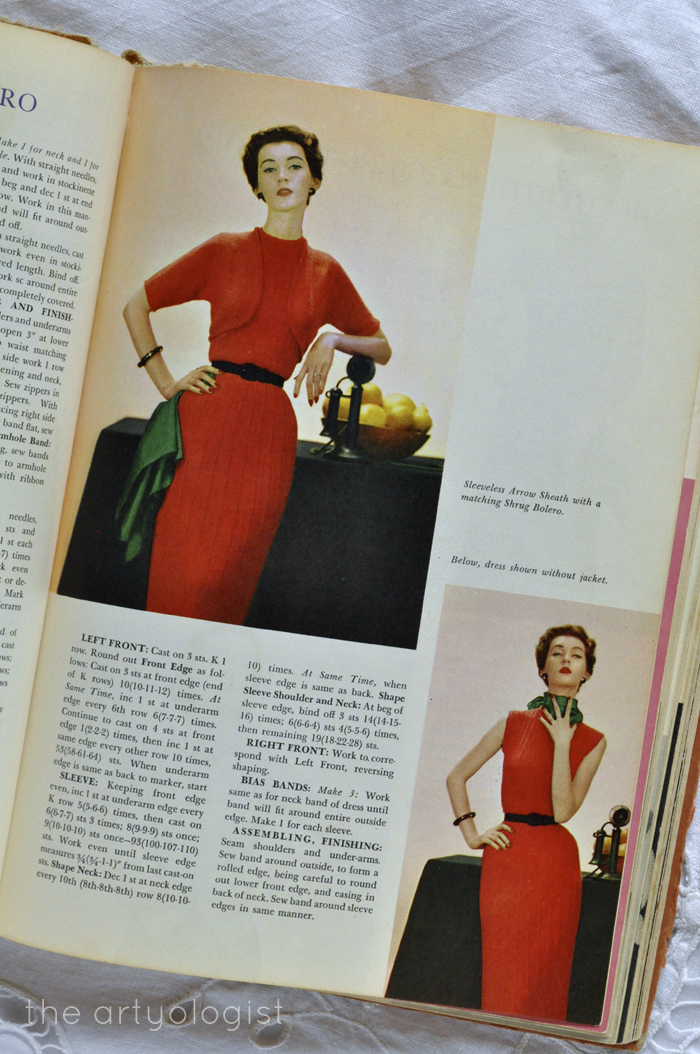 red knitted dresses the artyologist