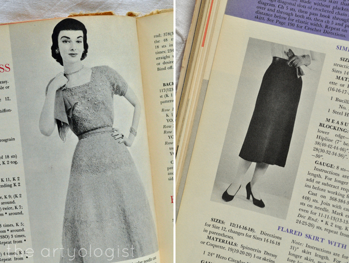 knitted skirt and dress McCall's Treasury of Needlecraft the artyologist