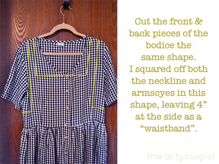 gingham refashion how to cut bodice the artyologist