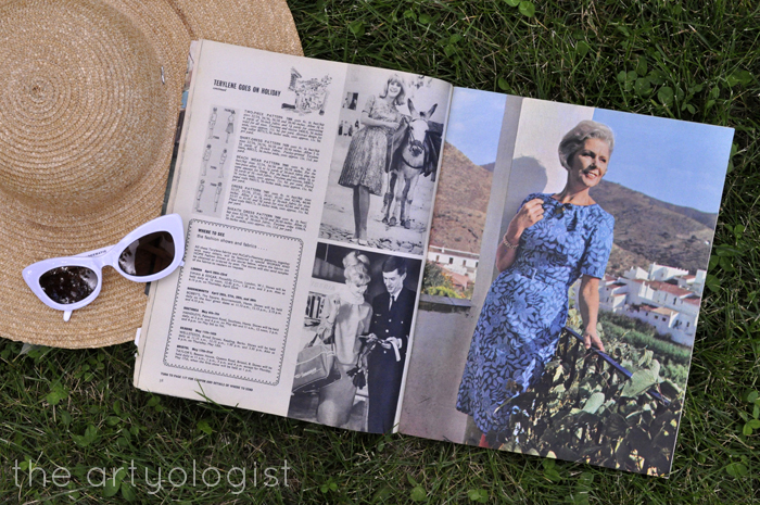 1965 Fashion: Terylene Goes on Holiday Woman and Home Magazine, the artyologist