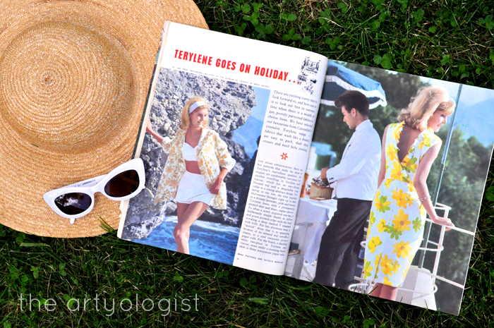 1965 Fashion: Terylene Goes on Holiday, the artyologist, Woman and Home