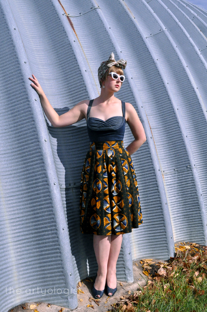 The Big Reveal: The Refashioners 2016 and Gertie's Butterick, full outfit, the artyologist