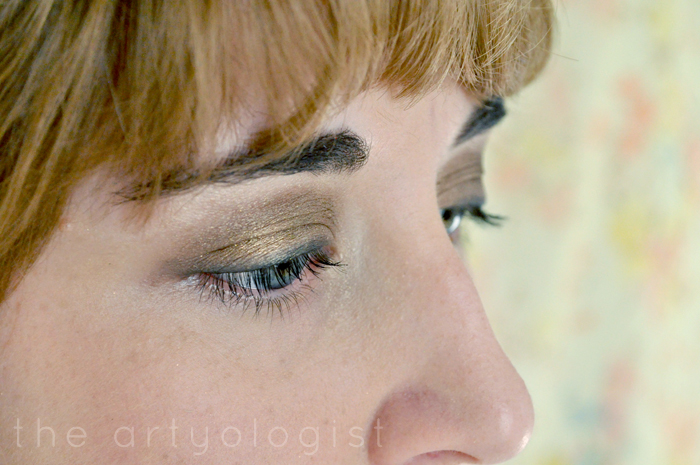finished eye-look, How to create a modern 1920's makeup look, the artyologist