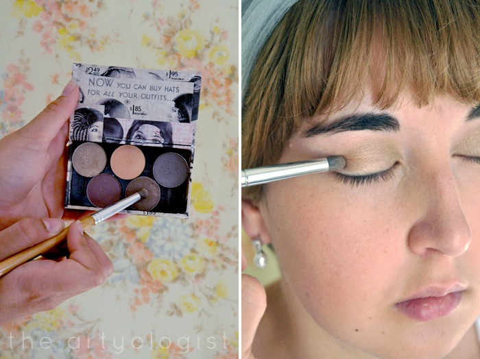 eyeshadow step three, How to Create a Modern 1920's Makeup Look, the artyologist