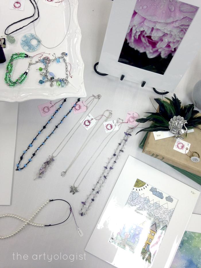 Craft Sale Recap, Table Display, the artyologist