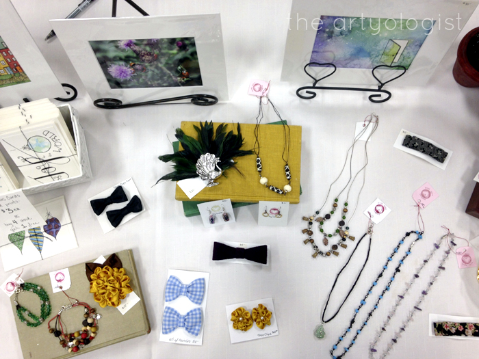 Craft Sale, table top display, the artyologist
