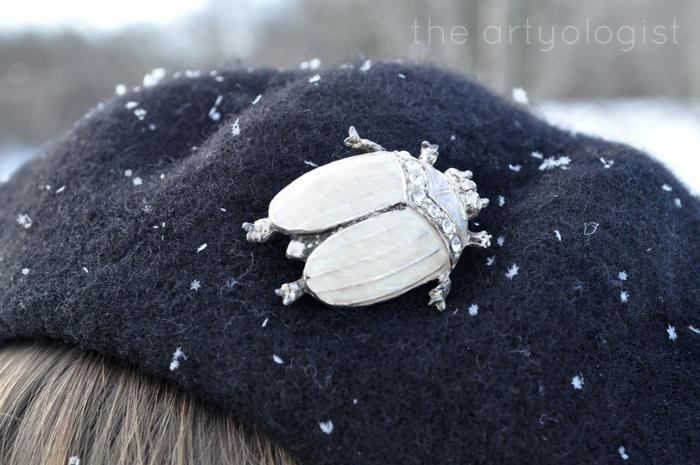 White Wonderland, Beetle Brooch, the artyologist