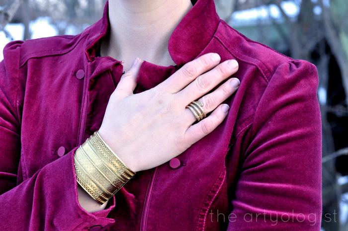 The Navy and the Redcoats, the artyologist, military inspired outfit, brass jewellery details