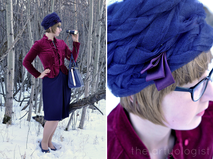 The Navy and the Redcoats, military inspired outift, the artyologist, hat detail and military inspired outfit