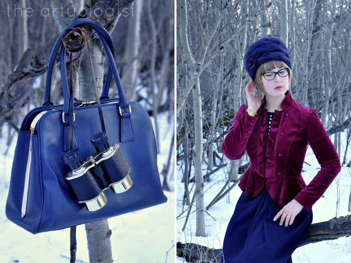 The Navy and the Redcoats, Military Inspired outfit, purse detail, the artyologist