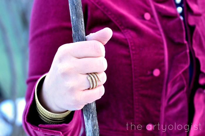 The Navy and the Redcoats, the artyologist, brass snake ring detail