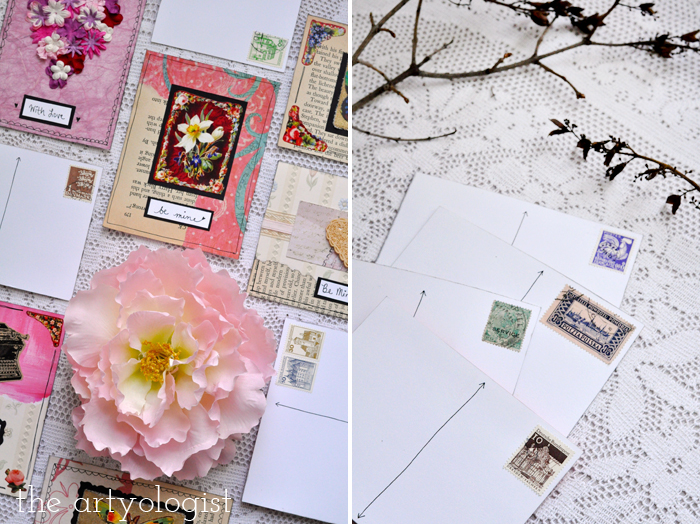 the artyologist, valentine's cards backs and fronts