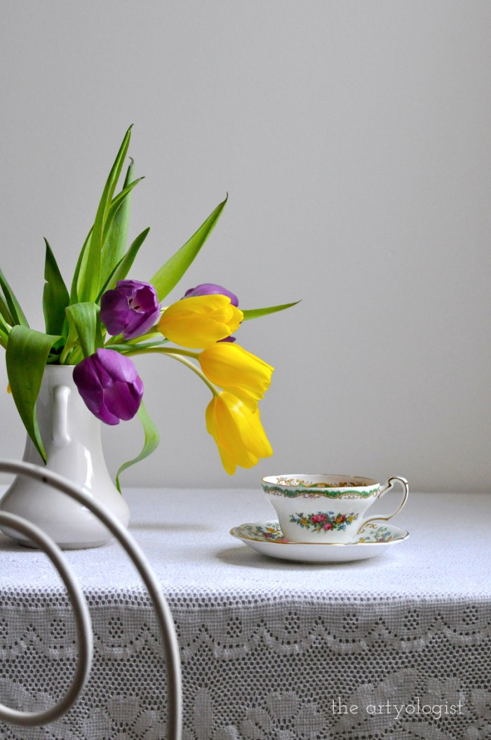 Tea and Tulips on a February Day, the artyologist