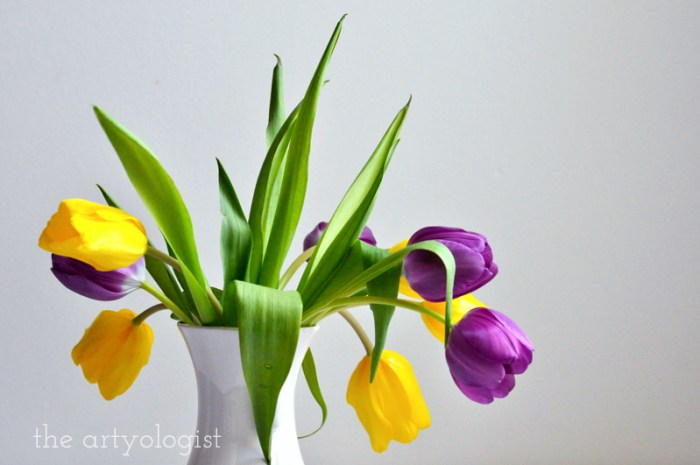 Tea and Tulips on a February Day, the artyologist, tulip vase
