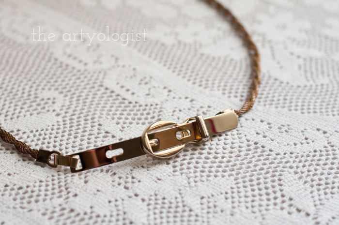 Fashion Revolution Haulternative (aka Thrift Finds) the artyologist, belt-detail