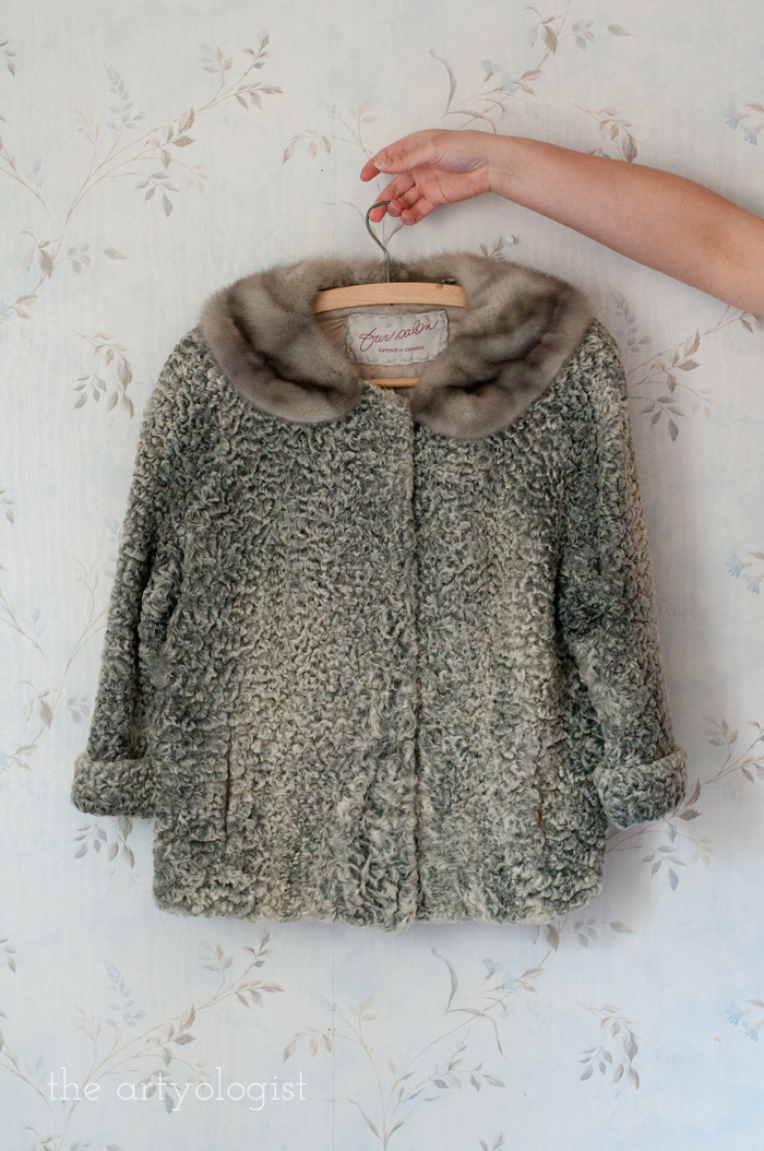 Fashion Revolution Haulternative (aka Thrift Finds) the artyologist, fur coat