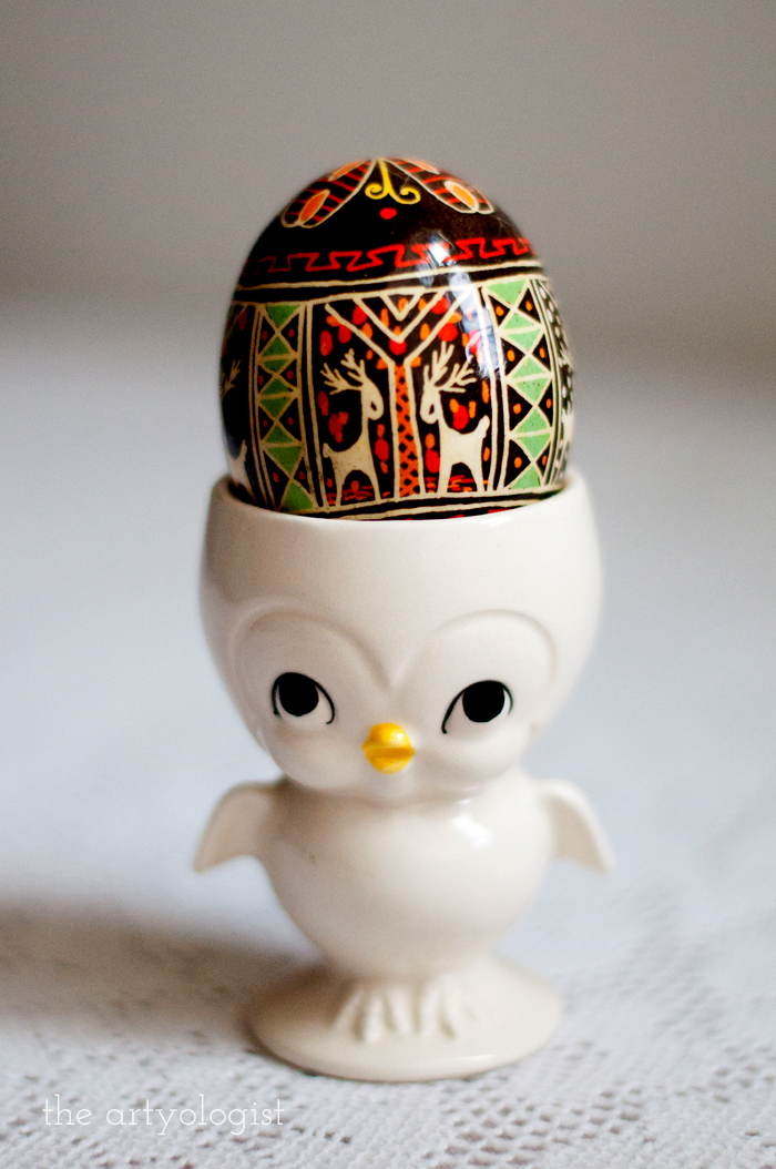 Happy Easter, the artyologist, pysanka egg stand