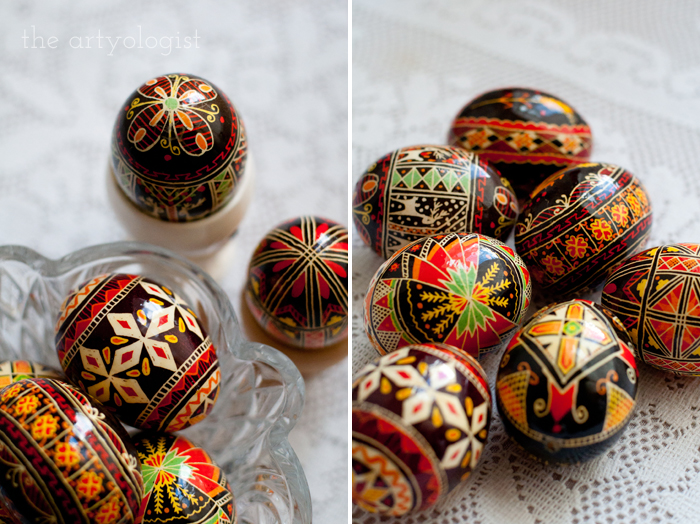 Happy Easter, the artyologist, pysanka scattered