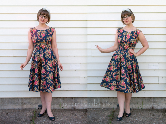 Simple Petticoat Alteration, the artyologist, before and after with petticoat