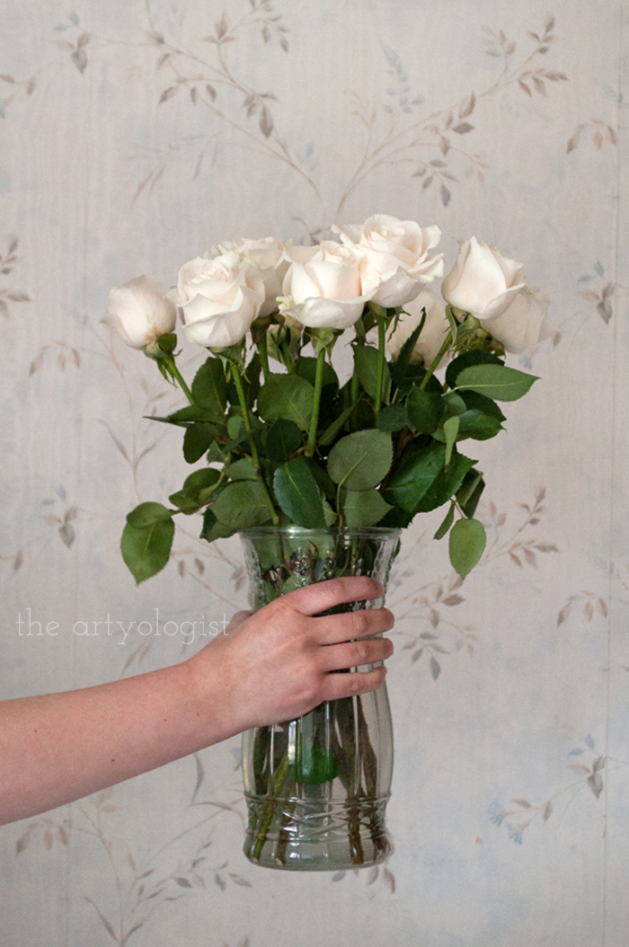 Afternoon Tea and Cream Coloured Roses, the artyologist