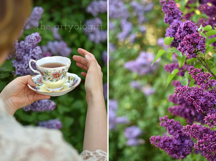 Lilacs and Love letters, the artyologist, teatime