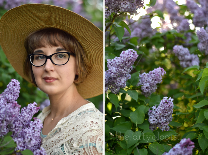 Lilacs and Love letters, the artyologist, portrait
