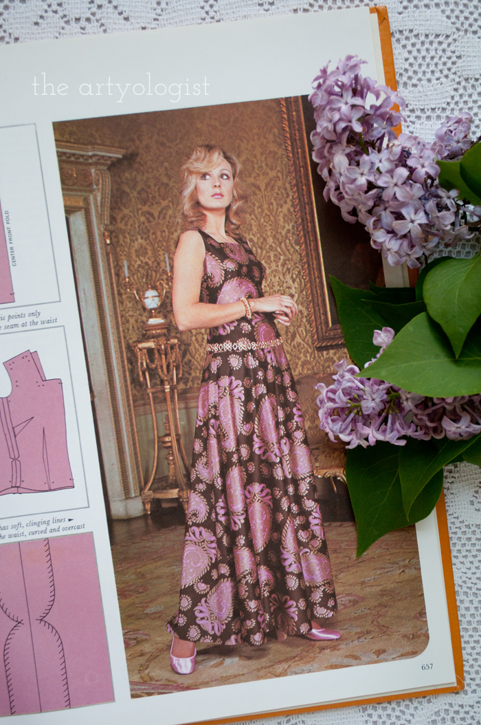 A Fashion Moment with Creative Hands: Lilac, long dress